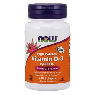 Now Foods Vitamín D3 2000 IU 240 kaps