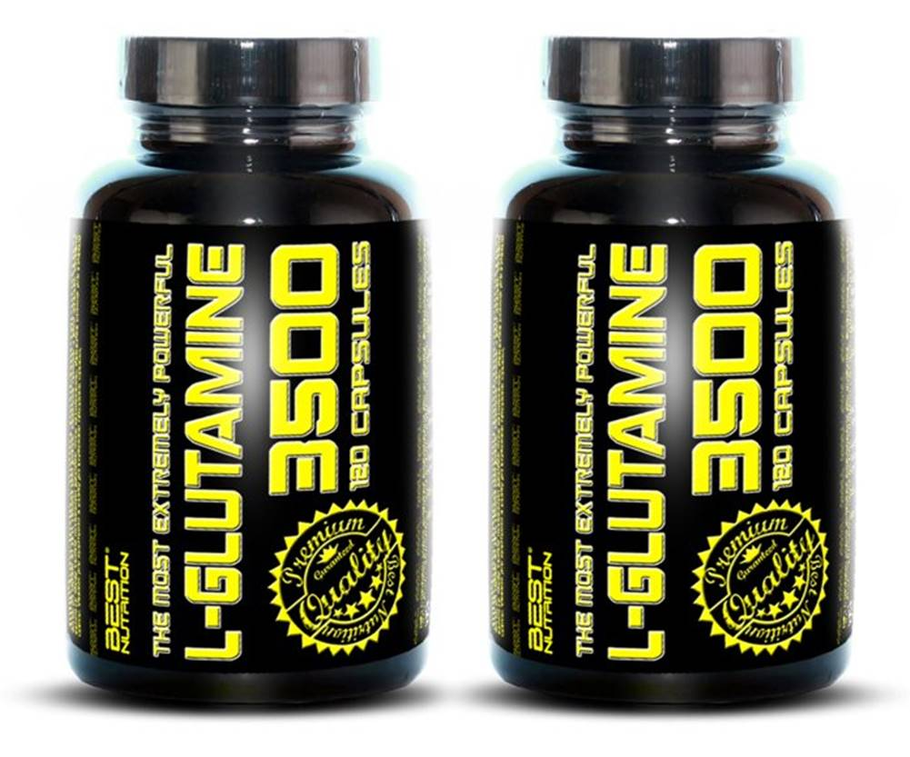 Best Nutrition 1+1 Zadarmo: L-Glutamine od Best Nutrition 120 kaps. + 120 kaps.
