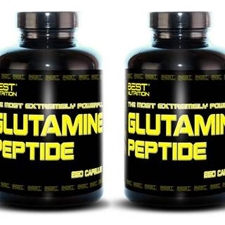 1+1 Zadarmo: Glutamine Peptide od Best Nutrition 250 kaps + 250 kaps.