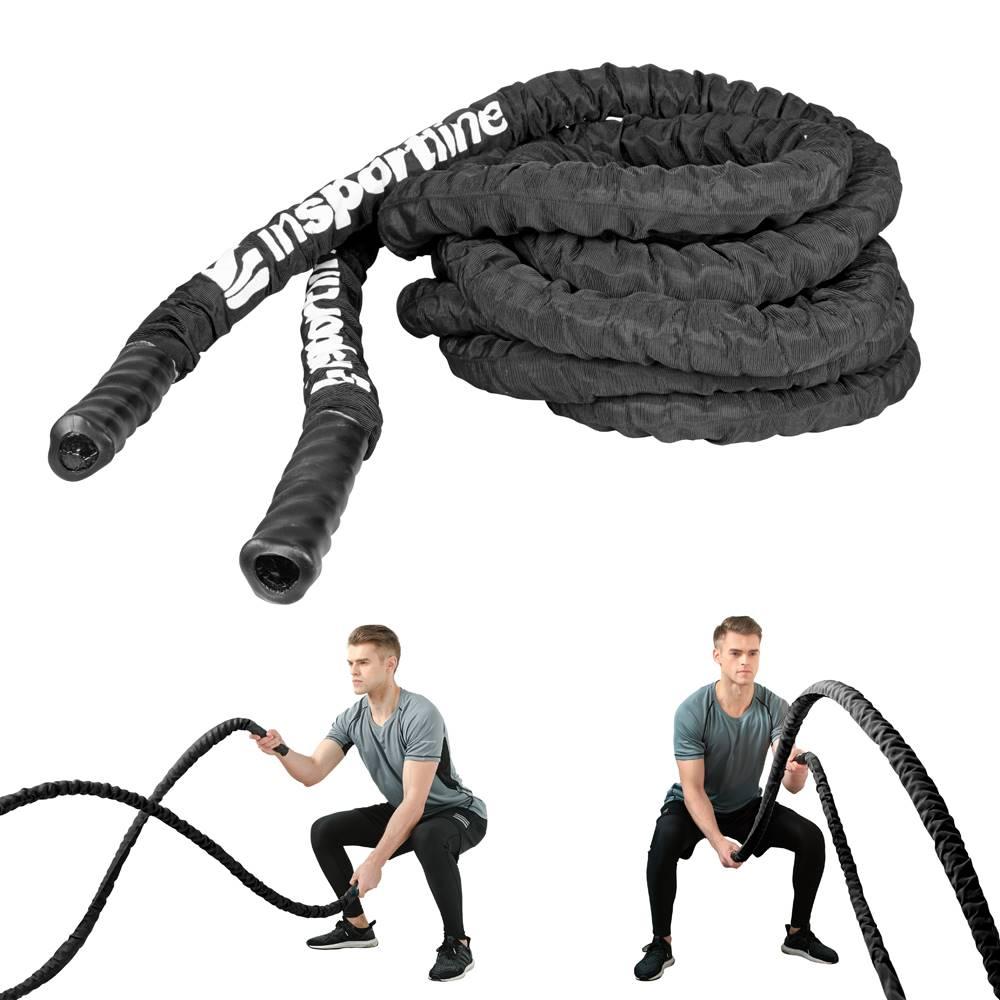 Insportline Posilňovacie lano inSPORTline Wave Rope 50 mm - 15 m