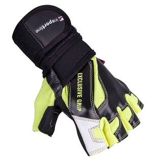 Kožené fitness rukavice inSPORTline Perian čierno-žltá - S