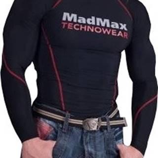 Madmax compress tričko s dlhým rukávom MSW902 čiernočervená farba variant: L